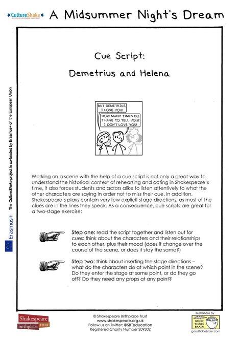 MSND Cue Script Helena and Demetrius thumbnail
