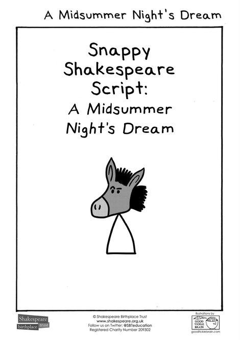 MSND Snappy Shakespeare Script JGP