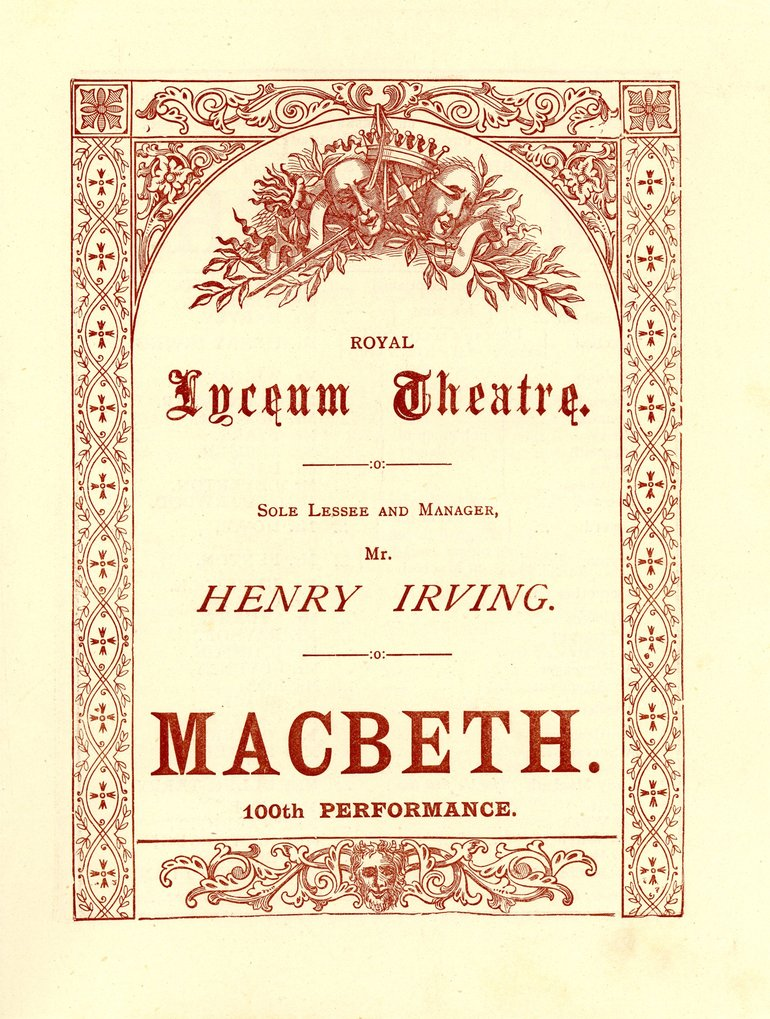 Macbeth with Henry Irving Programme, 1889