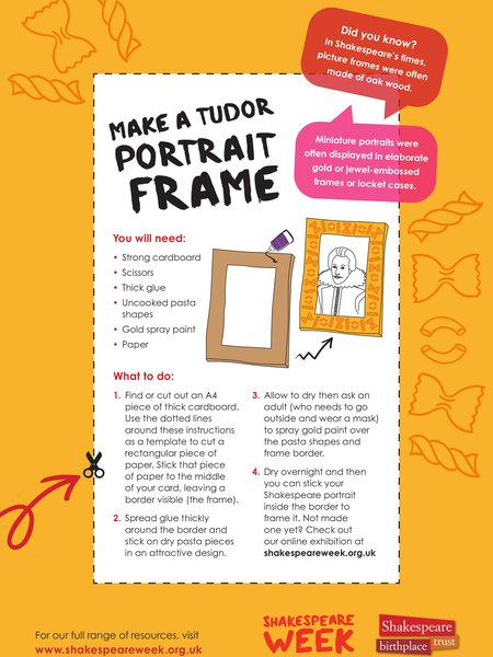 Make a Tudor portrait frame