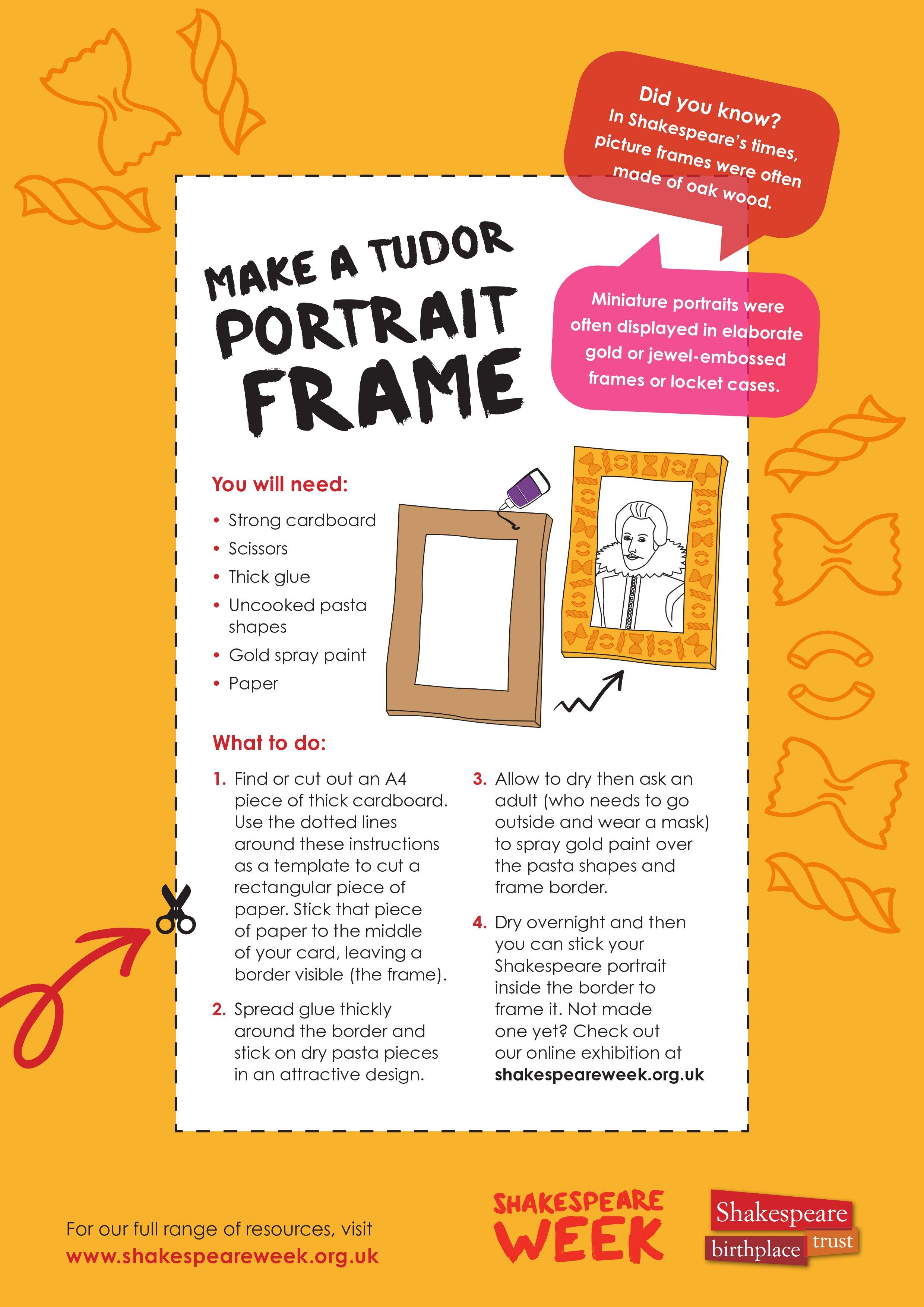 Make a Tudor portrait frame