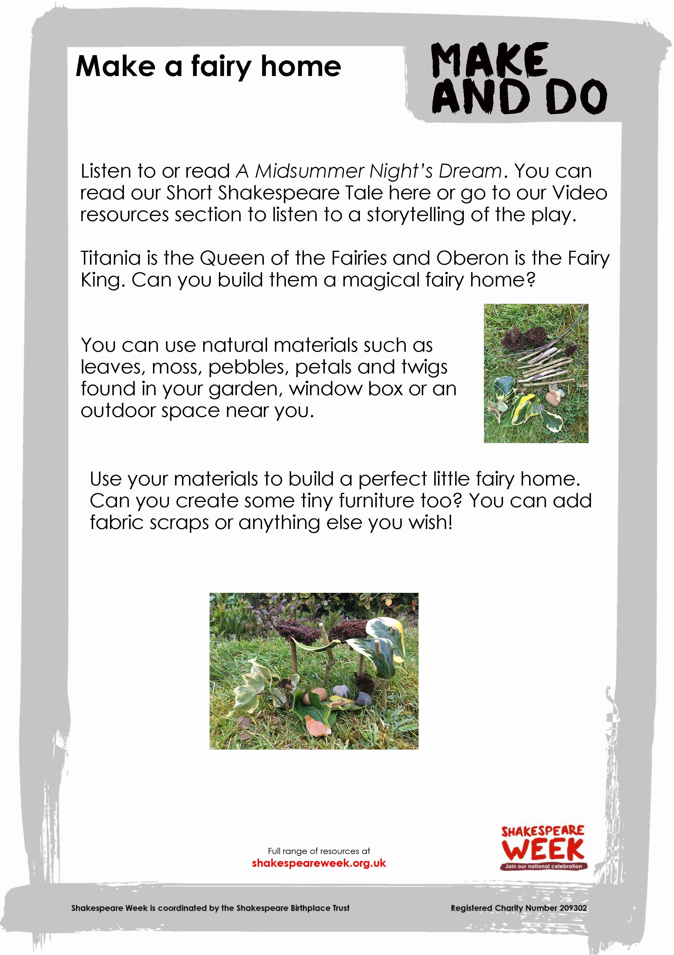 Make a fairy home