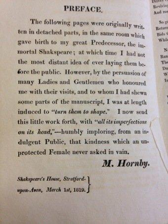 mary hornby preface