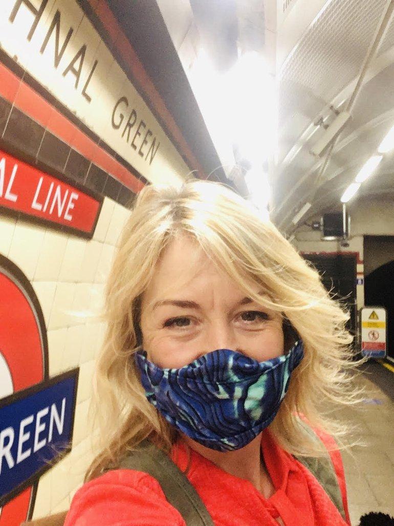 Me on the spot of the underground libraryjpg Kate Thompson.jpg
