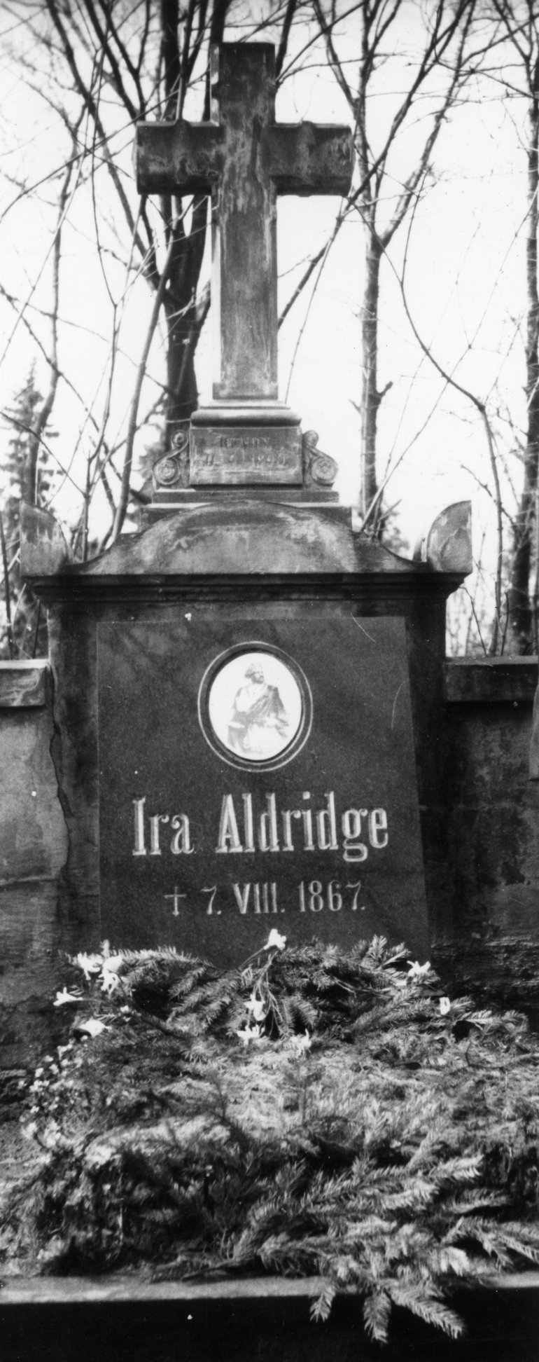 Ira Aldridge's grave in Lodz