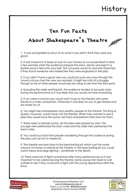 Ten Fun Facts About Shakespeare's Theatre
