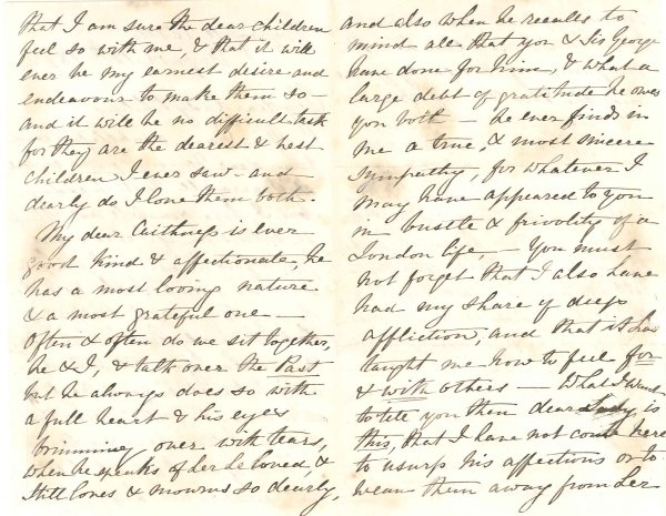 DR 198/48 Letter from Marie Caithness to Lady Philips, August 12th 1872