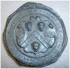 lead impression of the Borough seal