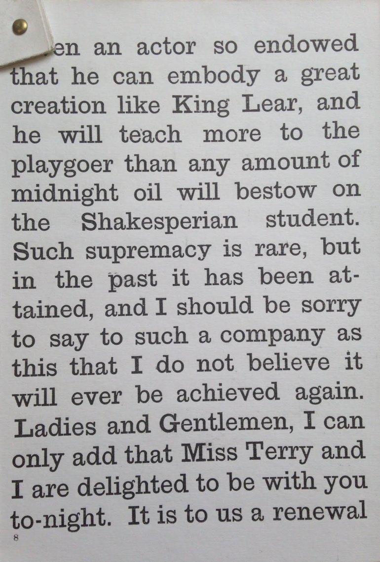 Henry Irving's Speech 2