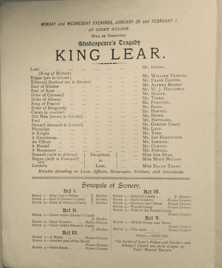 Tate King Lear Program