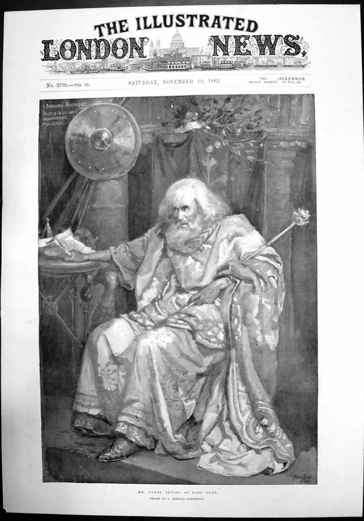 Irving as Lear