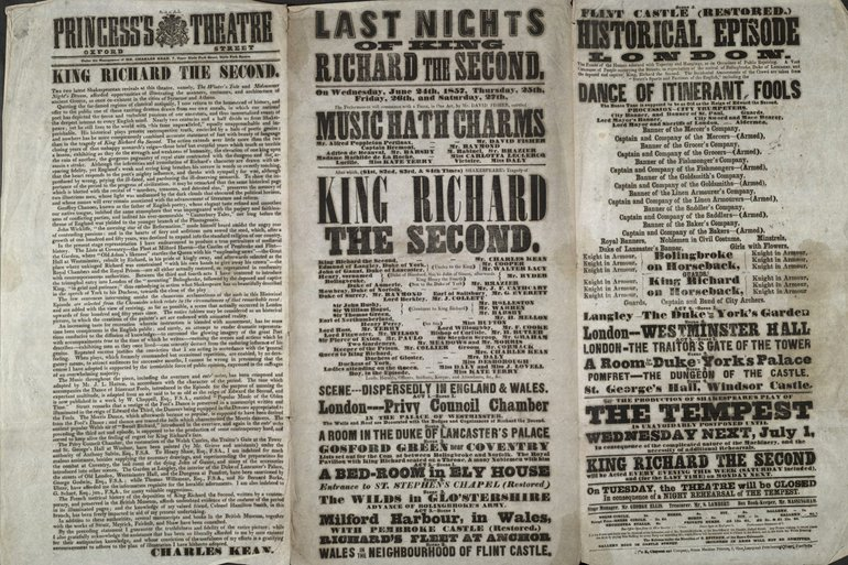 Playbill for Richard II 1857