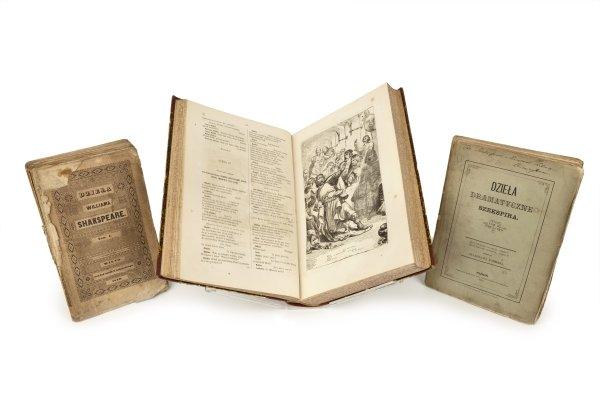 Some of the early Polish translations of Shakespeare's plays at the Shakespeare Birthplace Trust Library:  the translations of Ignacy Hołowinski and Stanisław Koźmian, as well as Józef Ignacy Kraszewski's Dzieła Dramatyczne Williama Shakespeare