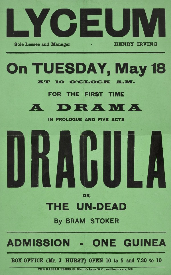 Dracula playbill