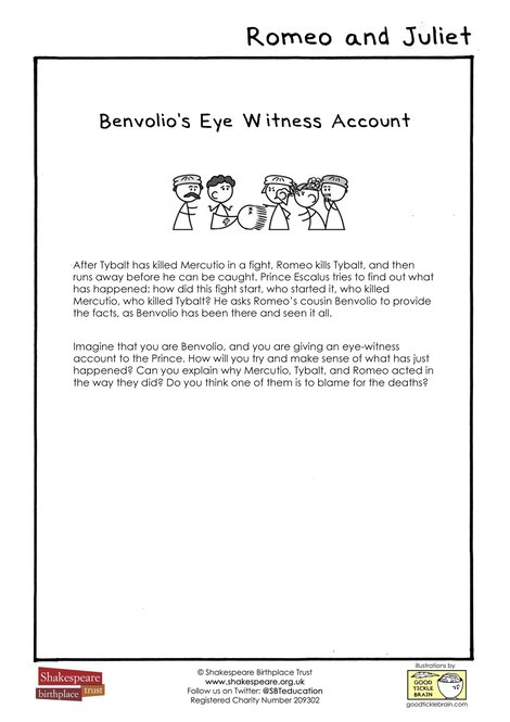 Benvolio's Eye-Witness Account