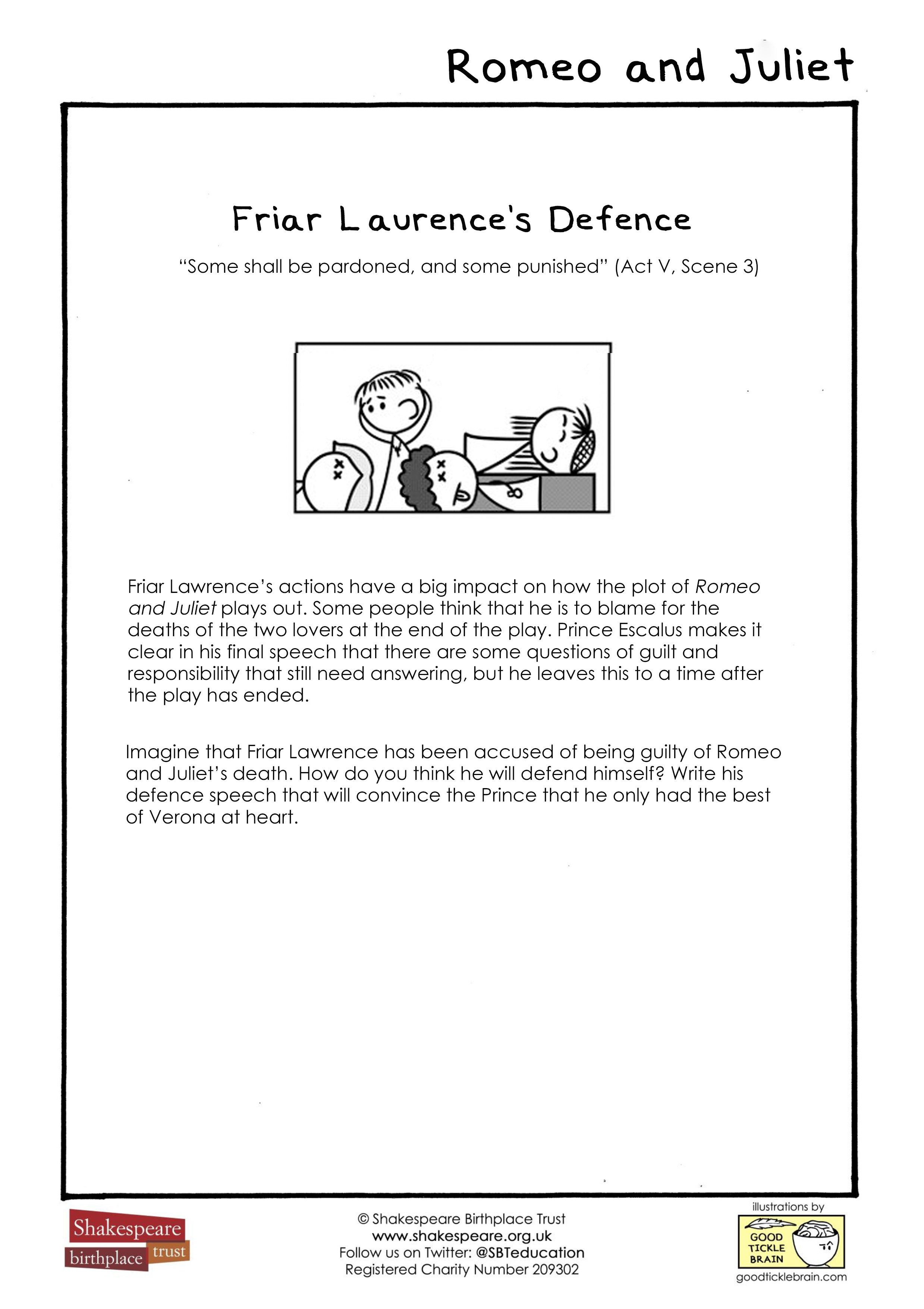 Friar Laurence Lawrence Soliloquy Summary