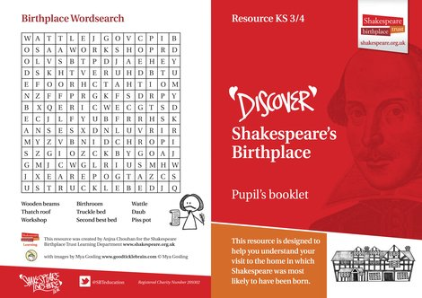 Shakespeare's Birthplace Pupil Activity Booklet KS3-4 JPG