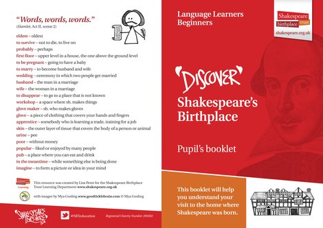 Shakespeare's Birthplace Pupil Activity Booklet EFL Beginner JPG