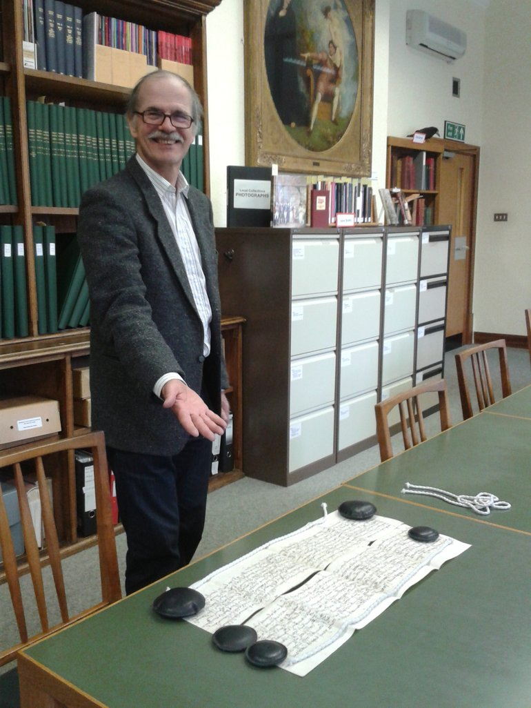 Robert Howe having matched up an indenture document