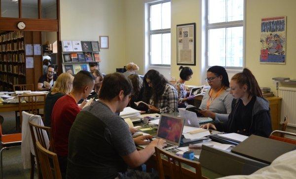 Rutgers University using the Reading Room