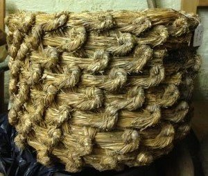 Detail from the bee skep, part of the Shakespeare Birthplace Trust Collections