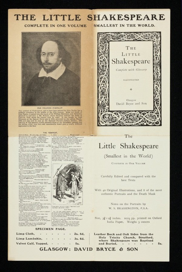 The Little Shakespeare Leaflet Recto