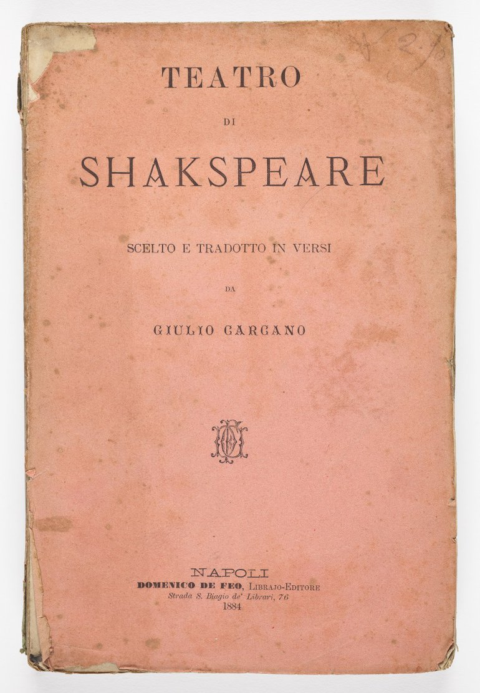 Teatro di Shakespeare, 1860, cover