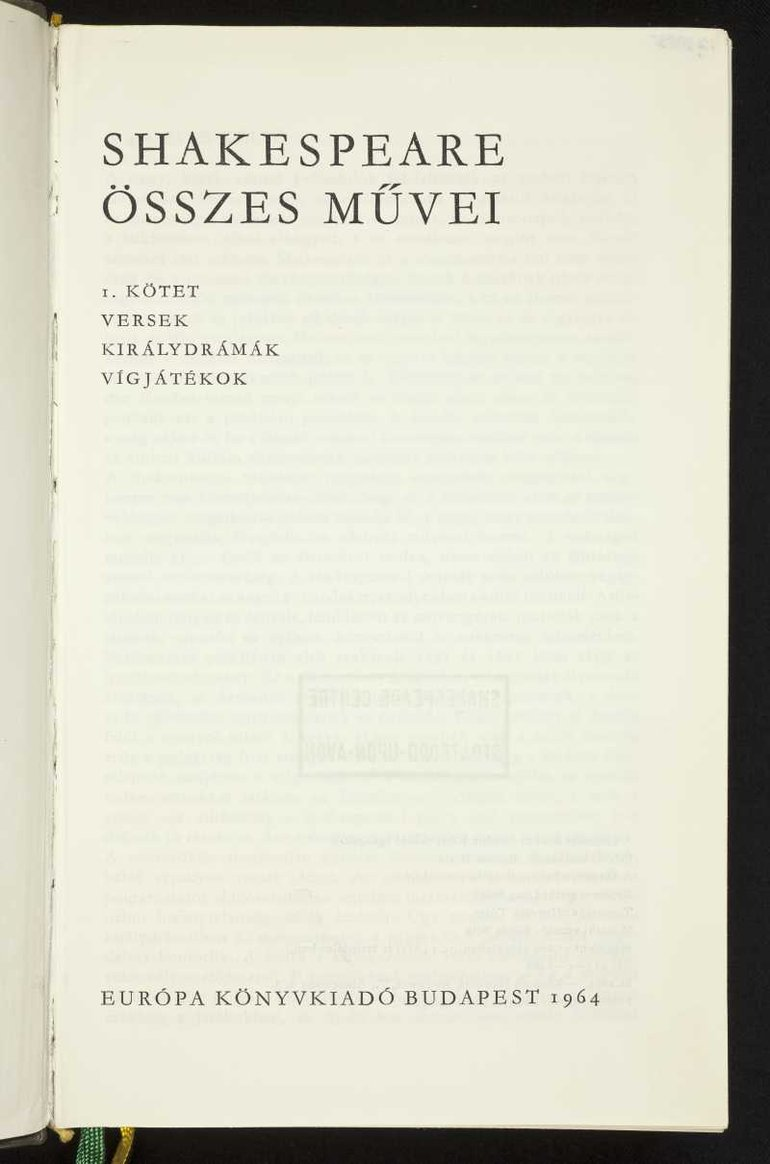 Hungarian translation (1964)