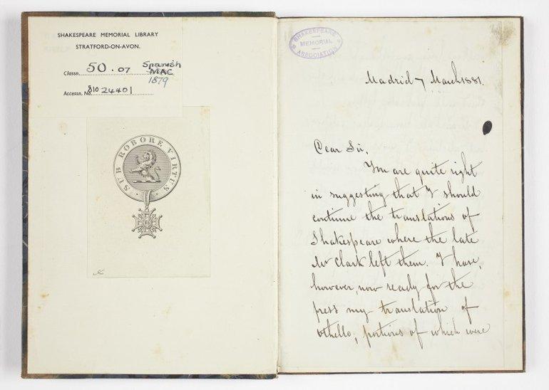 Spanish Hamlet (1879) letter