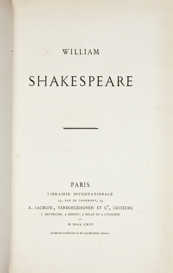William Shakespeare (1864) by Victor Hugo