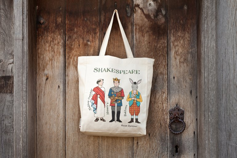 Alison Gardiner Shakespeare Characters Tote Bag