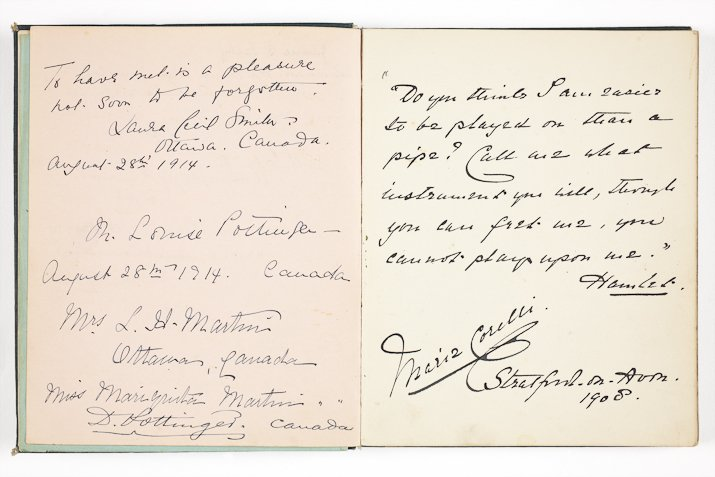 Autograph book kept by Mrs Mary Rose (1909-1921) (DR1107)