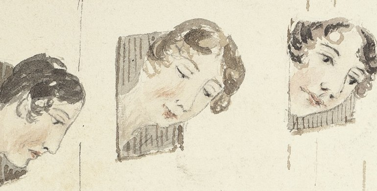 Ventilator sketch extract three women