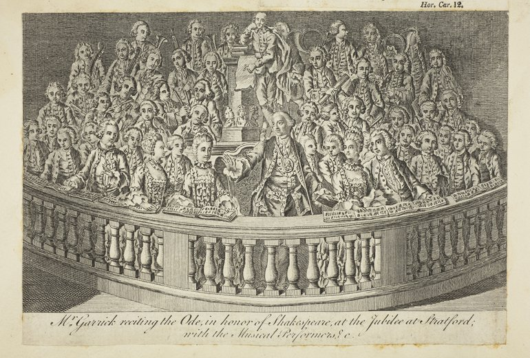 Garrick Delivering His Ode to Shakespeare, 1769