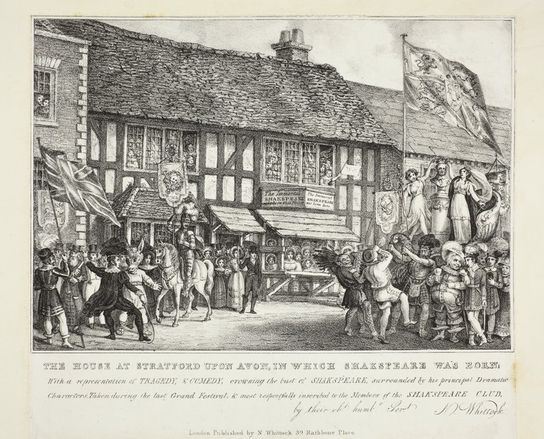 Print showing a fanciful image of the Shakespeare Jubilee, 1769