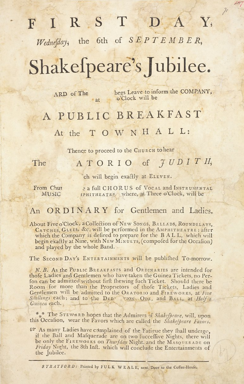 Jubilee Handbill Day One