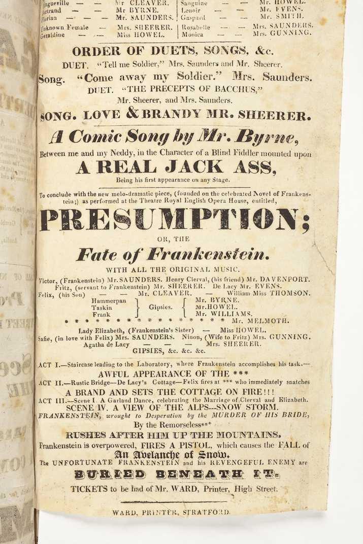 ER1/47/38 Hunt papers Frankenstein detail