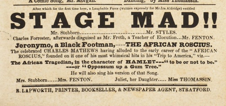 Stage Mad playbill 1851