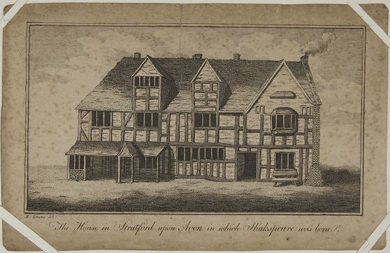 R. Greene's drawing of the Birthplace 1769