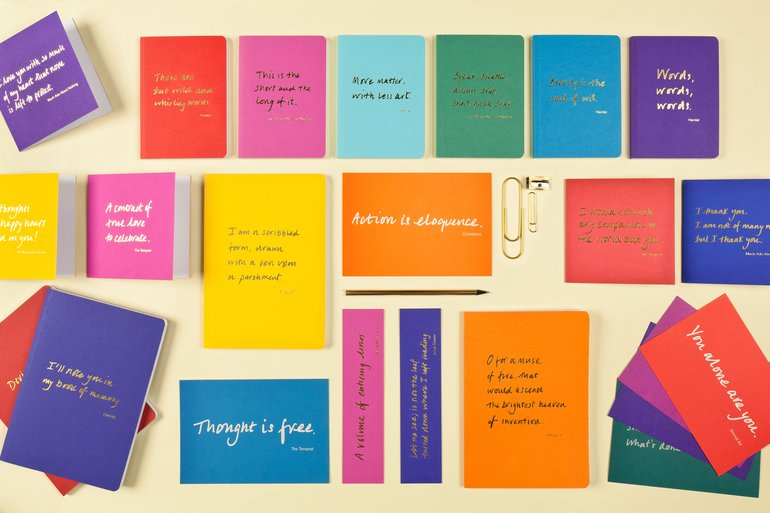 Colourblock Quotation stationery