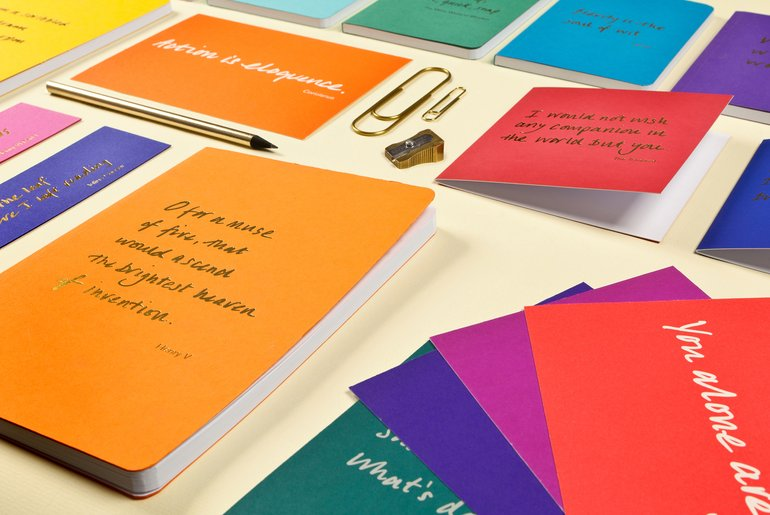 Colourblock Quotations stationery