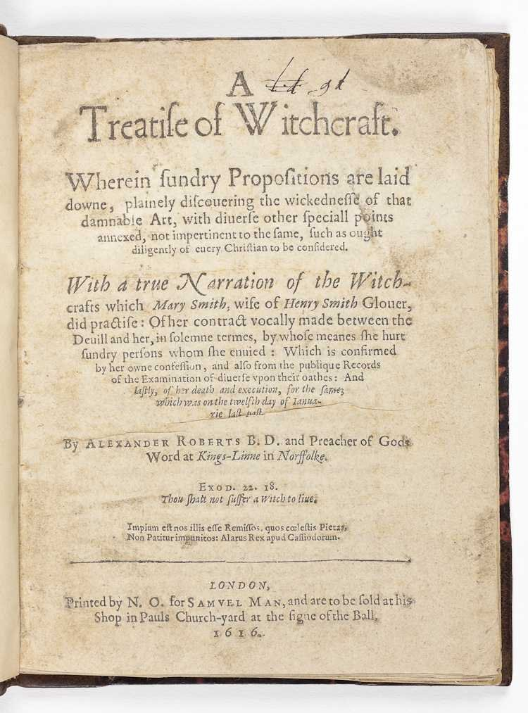 Treatise on witchcraft title page
