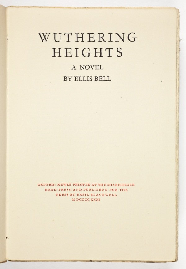 Wuthering Heights Title Page