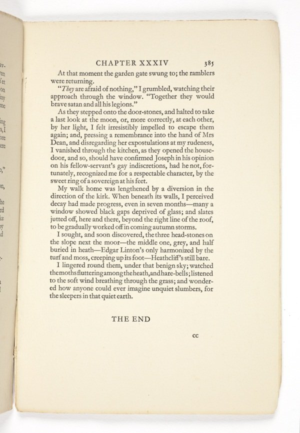 Wuthering Heights Last page