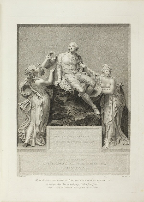 Relievo pictured at the front of the Boydell Shakespeare volume