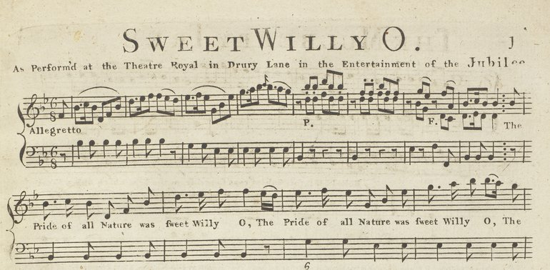Sweet Willy O from Shakespeare's Garland