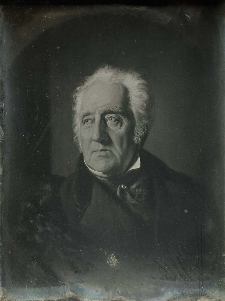 Painted Portrait of Thomas Handasyd Perkins, by Spiridione Gambardella