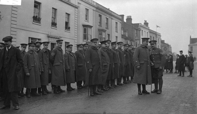 Soldiers on Bridge Street
