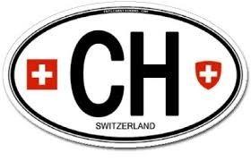 CH car bumper sticker