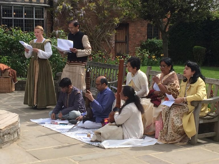 Tagore Readings in the Birthplace garden